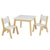 KidKraft Children's 3 Piece Square Table and Chair Set
