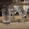 Zodax Spring Leaves Cut Design Wine Glassware (Set of 8)