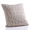 Zodax Lancet Hand Embroidered Cotton Throw Pillow