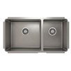 "Julien ProInox 33"" x 18"" Undermount Double Bowl Kitchen Sink"
