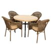 Europa Leisure Monaco 4 Seater Dining Set with Cushions