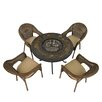 Europa Leisure Durango 4 Seater Dining Set with Cushions and Firepit
