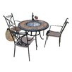 Europa Leisure Durango 4 Seater Dining Set with Firepit