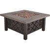 Bond Manufacturing Marbella Stainless Steel Propane Fire Pit Table