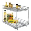 Lynk® Lynk Professional Roll Out Double Shelf - Pull Out Two Tier Sliding Under Cabinet Organizer - 14 inch wide x 21 inch deep - Chrome