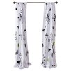 Perry Ellis Asian Lily Cotton Lined Window Panels (Set of 2)