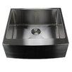 "Nantucket Sinks Pro Series 24"" x 22.5"" Single Bowl Farmhouse Apron Front Stainless Steel Kitchen Sink"