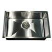 """Nantucket Sinks Pro Series 28"""" x 18"""" Rectangle Undermount Small Radius Stainless Steel Kitchen Sink"""