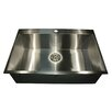 "Nantucket Sinks Pro Series 33"" L x 22"" W Rectangle Single Hole Topmount Stainless Steel Kitchen Sink"