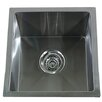 "Nantucket Sinks Pro Series 15"" x 15"" Square Undermount Small Radius Stainless Steel Bar Sink"