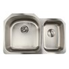 """Nantucket Sinks Falmouth 31.5"""" x 20.5"""" 16 Gauge Stainless Double Bowl Kitchen Sink"""