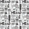 """Marimekko Marimekko II 33' x 27"""" Beverage Wallpaper"""