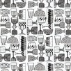 """Marimekko Marimekko II 33' x 27.6"""" Kippis Wallpaper"""