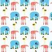 """Marimekko Marimekko II Karkulaiset 33' x 27"""" Elephants Wallpaper"""