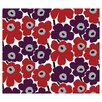 "Marimekko Pieni Unikko 33' x 21"" Floral and Botanical Wallpaper"