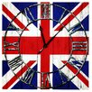 Home Essence Union Jack Canvas Wall Clock (Set of 4)