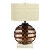 """Palecek Ikebana Sphere 27"""" H Table Lamp with Drum Shade"""
