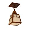 Arroyo Craftsman A-Line 1 Light Semi Flush Mount