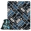 Northwest Co. Star Wars Classic Big Mask Darth Vader 2 Piece Fleece Throw and Pillow Set