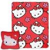 Northwest Co. Hello Kitty Kitty Flowers 2 Piece Fleece Throw and Pillow Set