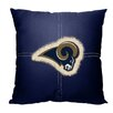 Northwest Co. NFL Rams Cotton Throw Pillow