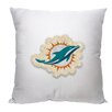 Northwest Co. NFL Dolphins Cotton Throw Pillow