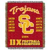 Northwest Co. NCAA University of Southern California Commemorative Woven Throw Blanket