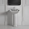 "WS Bath Collections Waldorf 23.6"" Pedestal Bathroom Sink with Overflow"