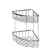 "WS Bath Collections Filo 7.8"" x 7.8"" Shower Basket Double in Polished Chromed"