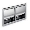 WS Bath Collections Hotellerie Recessed Double Toilet Paper Holder with Cover