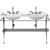 """WS Bath Collections Waldorf 59.1"""" Double Bathroom Sink with Overflow"""