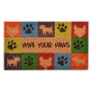 "Design by AKRO ""Wipe Your Paws"" Doormat"