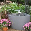 Hampton Acrylic Above Ground Pond Kit with Light - Color: Charcoalstone - Algreen Indoor and Outdoor Fountains