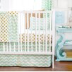 New Arrivals Gold Rush 2 Piece Crib Bedding Set
