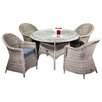 Cozy Bay Hampton 4 Seater Dining Set with Cushions