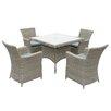 Cozy Bay Eden 4 Seater Dining Set