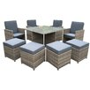 Cozy Bay Cube 9 Piece Dining Set