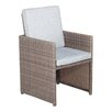Cozy Bay Cube Dining Arm Chair with Cushion