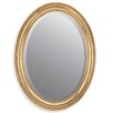 Home Essence Gilt Oval Leaf Mirror