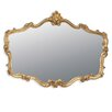 Home Essence Overmantle Rectangular Gilt Leaf Mirror