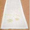 Home Essence Snow Crystal Table Runner