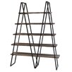 "Crestview Collection Ashland Weathered Oak 71"" Accent Shelves Bookcase"