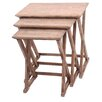 Crestview Collection Cheyenne 3 Piece Nesting Table Set
