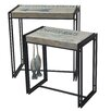 Crestview Collection Fisherman's Wharf 2 Piece Nesting Tables