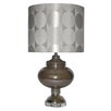 "Crestview Collection Transitions Circles 25"" H Table Lamp with Drum Shade"