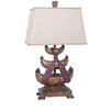 """Crestview Collection Canoe 32.5"""" H Table Lamp with Empire Shade"""