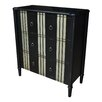 Crestview Collection Beverly Striped 3 Drawer Chest
