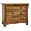 Crestview Collection Mesquite 3 Drawer Wood and Nailhead Chest