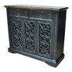 Crestview Collection Nottingham 3 Pierced Door Cabinet