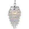 AF Lighting Elements Crystal Teardrop 1 Light Mini Chandelier